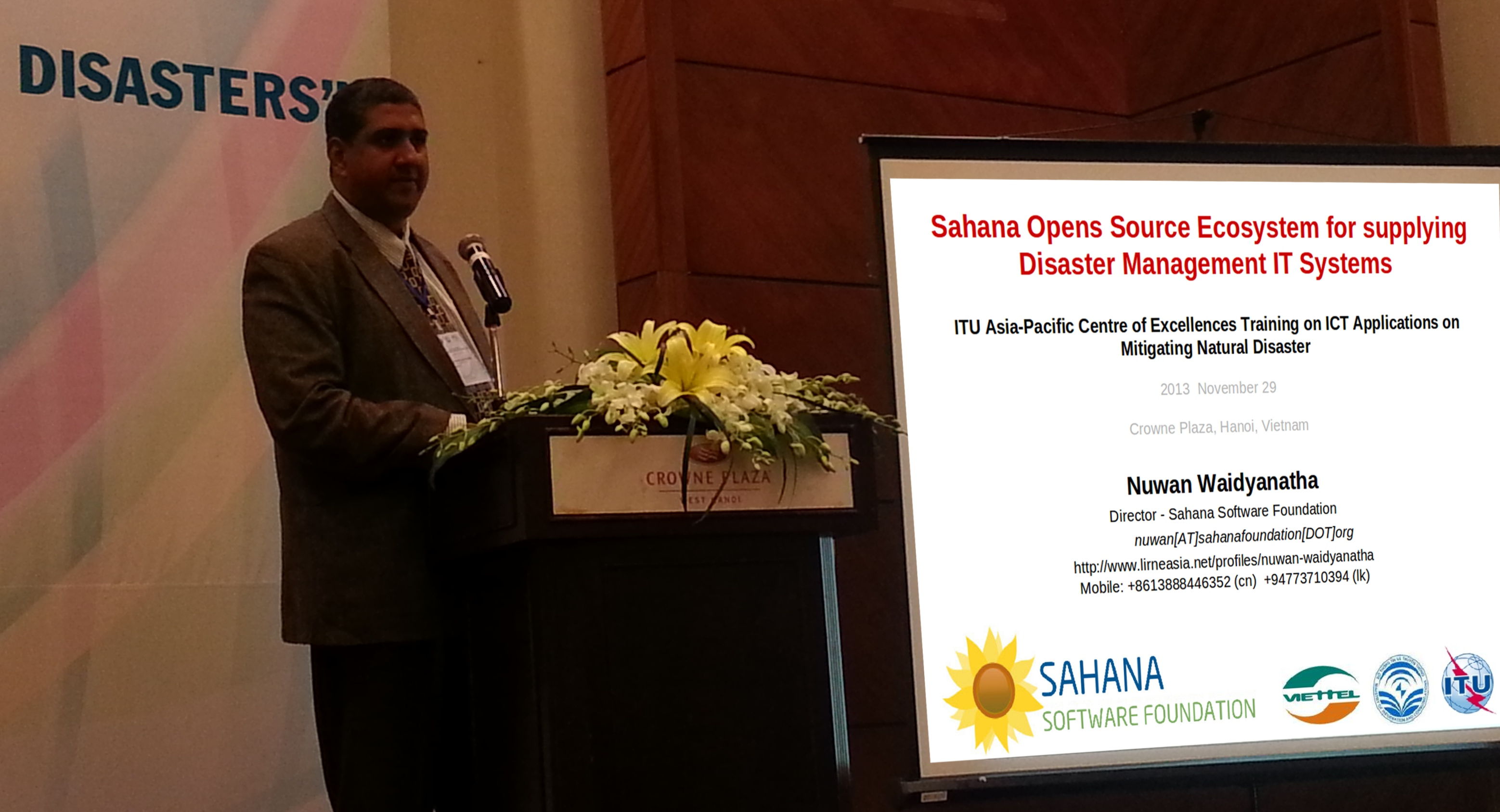 The Sahana Ecosystem for Disaster Mitigation presented @ITU in Hanoi