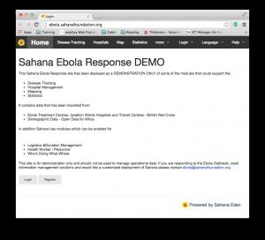 Sahana Ebola Response Demo Site
