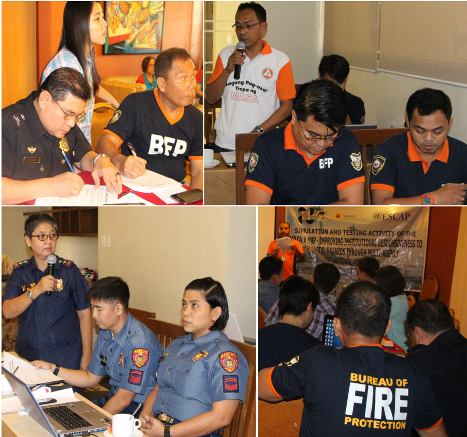 Tabletop exercises with First-Responders in Subic and Manila Bays