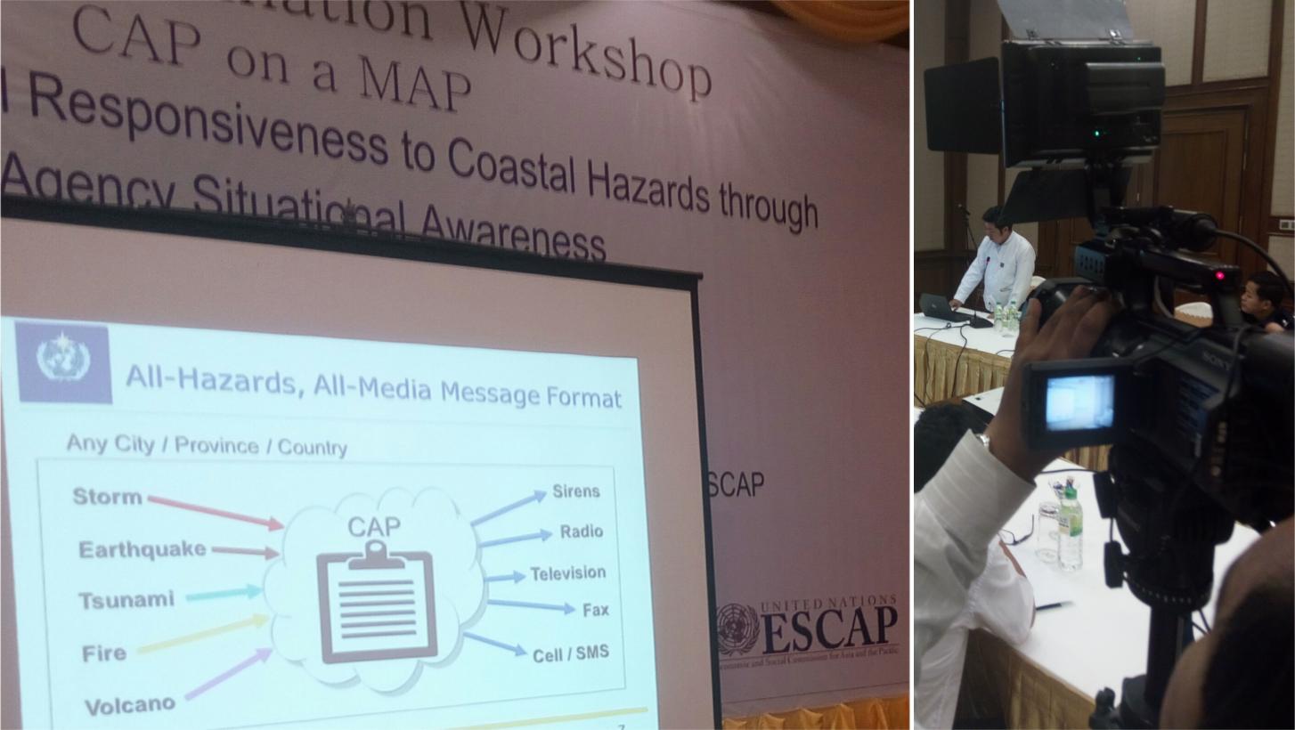Mr. Tun Lin Kyaw explains CAP
